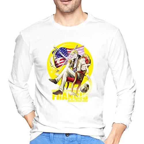 Vdaras - Maglietta a maniche lunghe da uomo Francis Scott Key Fitzgerald Bungou Stray Dogs bianco M