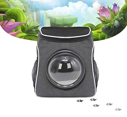 GBY Huisdiertas, draagtas, handtas met lichte ventilator, kat en hondenrugzak, 30 x 24 x 35 cm, size, grijs