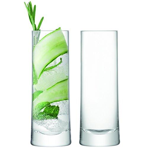 LSA International - Vasos de Tubo para Gin Tonic, 2 Unidades, 360 ml, Transparentes