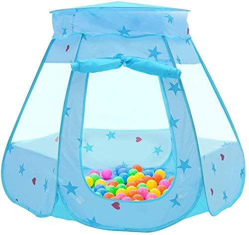 Garde Tienda de niños Kids Play Tent 115 * 95 * 66cm Pop Up Princess Children Ball Pool Pool Tent House para niños en Interiores y al Aire Libre (Azul) (Color : Blue)