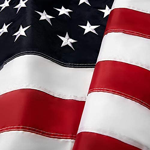 Volta Embroidered American Flag 3x5 ft Outdoor Vivid Color United States of America USA Flags product image