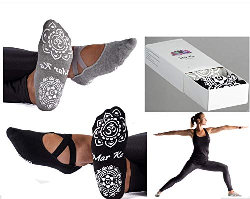 PRO Yoga Socks. SUPER SOFT COTTON. DOUBLE Non-Slip Grip, NOT Slides off! Fine Edges. BEST...