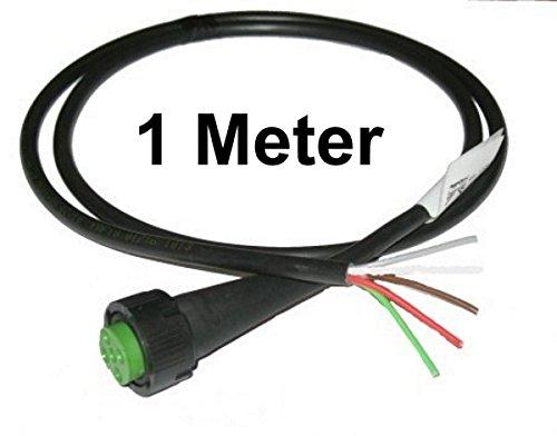 FKAnhängerteile 1 x Aspöck - Open End - Kabel 1m - 5 polig - Bajonett Anschluss - Grün