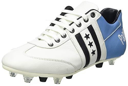Pantofola D'oro Piceno, Scarpe da Calcio Uomo, Bianco/Azzurro, 43 EU
