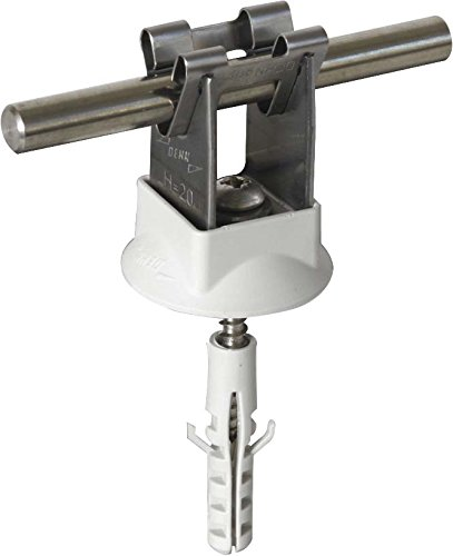 Dehn+Söhne Leitungshalter NIRO 207 109 f. Rd 8mm H 20mm Leitungshalter für Blitzschutz 4013364085800