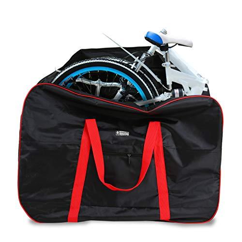 BAIGIO Bolsa Transporte Bicicleta Plegable, Bolsa de Almacenamiento de Bici Bolsa para el Manillar Bolso Plegable para el Envío de Viajes Aéreos, 14 Pulgadas hasta 20 Pulgadas