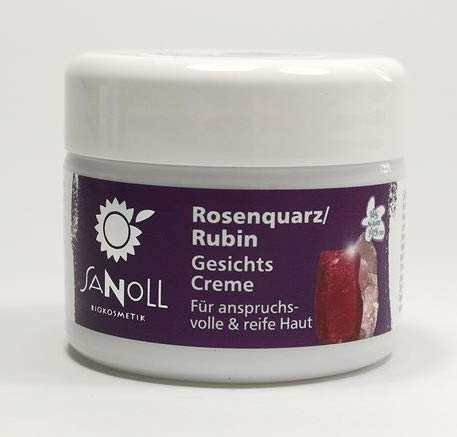 Sanoll Rosenquarz-Rubin Gesichtscreme vegan 50 ml