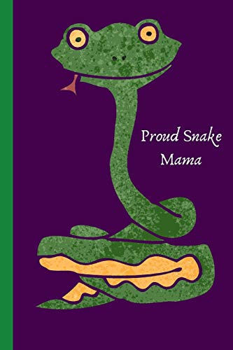 Proud Snake Mama: Purple Lined Notebook