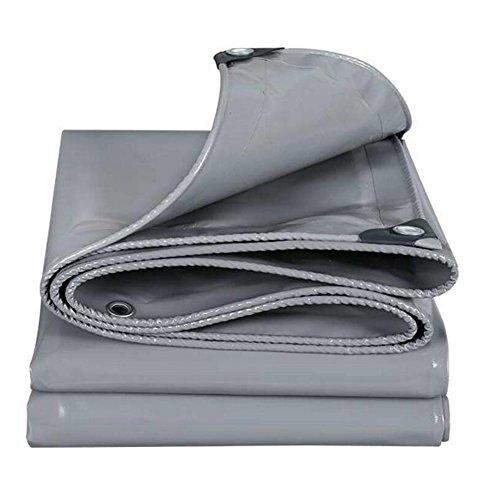 PJ Zelt Wasserdichtes Tuch Überdachung Drücken Ziehen Umweltschutz Plane Regen Tuch Wasserdicht Sonnencreme Drei Anti-Tuch Grau 550g \\ ㎡ (Dicke 0,45 mm) Es ist Weit verbreitet (Größe : Gray-3x4m)