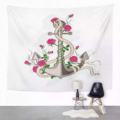 N/A Tapiz Tapiz Tapiz Simple a Rayas para decoración de habitación de Dormitorio Tapiz artístico de Pared para Colgar en la Pared Estera de Picnic Toalla de Playa Cubierta de Cama