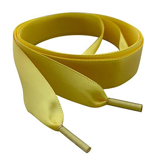 Pimp My Shoes de color amarillo cinta de satén cordones ideal para...
