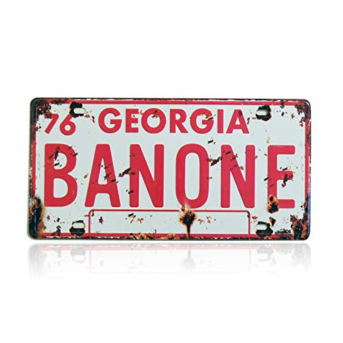 Smokey & The Bandit BAN ONE Retro Embossed License Plate Replica, Metal Stamped Number Tag, 12x6 inch