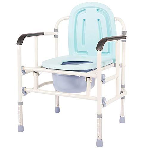 Commode aan het bed Commodestoel/Douchestoel/Apart toilet/Toilet Veiligheidsrek/Opvouwbaar mobiel toilet Ouderen Gehandicapte