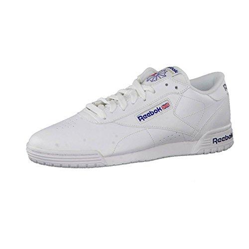 Reebok Jungen Exofit Lo Clean Logo Fitnessschuhe, Weiß (Int/White/Royal Blue/Royal Blue 000), 34.5 EU