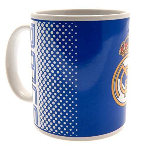 Real Madrid FC blu bianco dissolvenza calcio regalo inscatolato ufficiale tazza