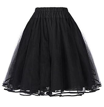 Belle Poque Short Net Underskirt for Celebrity Dresses Black M