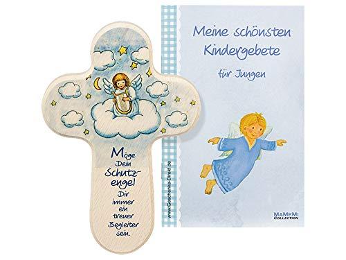 MaMeMi Kinder-Kreuz Kinderzimmer Schutzengel mit Harfe