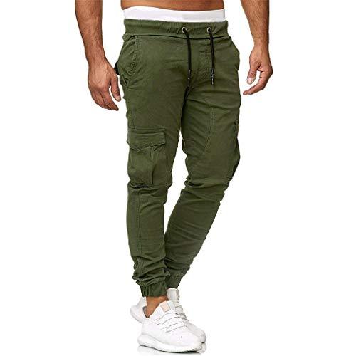 Skxinn Cargohose/Herren Hose Jogger Chino Cargo Jeans Hosen Stretch Sporthose Herren Hose mit Taschen Slim Fit Freizeithose, Angebote(Armeegrün,Medium)