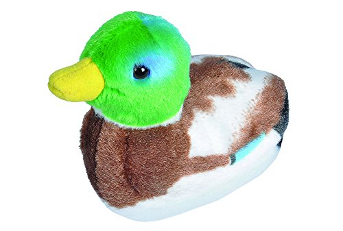 Wild Republic Audubon Birds Mallard Duck Plush with Authentic Bird Sound, Stuffed Animal, Bird Toys for Kids and Birders