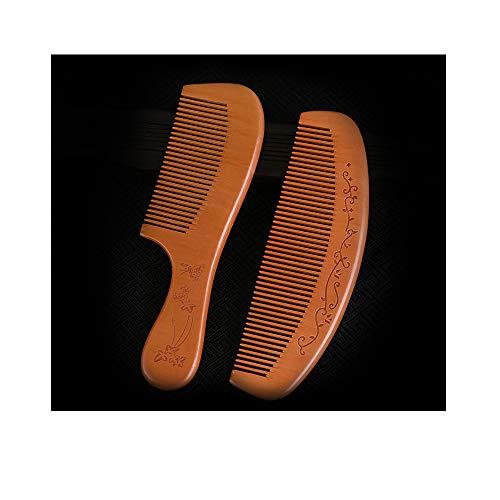Peigne en Acajou Set Ensemble De Peignes De Peigne De Coupe De Cheveux Portable Comb Peigne à Cheveux à Dents Fines Incassable pour Outils De Soins Capillaires De Salon Et D'hôtel,A
