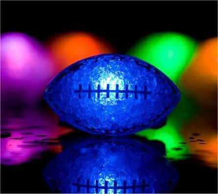 48 Light up Ice Cubes - Football - Rainbow
