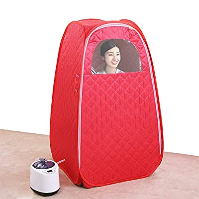 ALY Portable Folding Steam Sauna Tent, Function Steamer Chair Included, for Weight Loss, Detox, Relaxation at Home, Lightweight Portable Personal Steam Sauna Spa