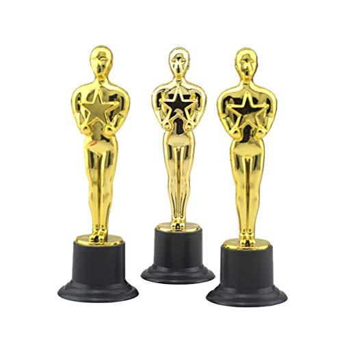 Toyvian Trofeo de Oro de plástico Premios de trofeos Premios a la Ceremonia de Celebraciones Premios Deportivos 6 Piezas