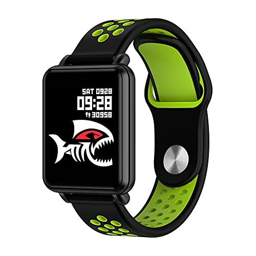 ZOZIZZ Smart Watch, Detector de Ritmo cardíaco de la presión Arterial Toque Fitness Fitness Fitness Mensaje IP68 Impermeable para Android y iPhone Teléfono,Verde