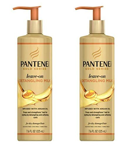 Pantene Gold Series Leave-In Detangling Milk 7.6 Ounce (225ml) (2 Pack)