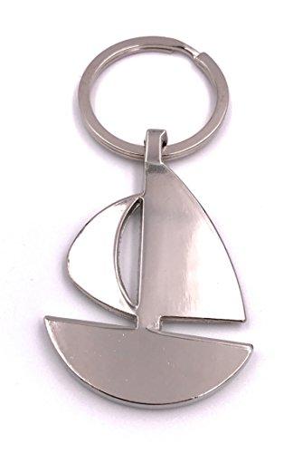H-Customs Segelboot Boot flach anders Schlüsselanhänger Anhänger