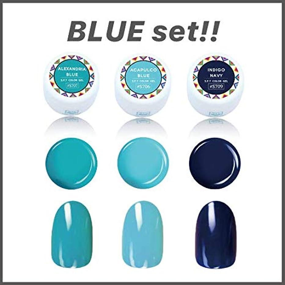可能性湖磁器日本製 ジェルネイル ブルーセット 3色セット FUNSID? ファンサイド カラージェル ブルー ネイビー 水色
