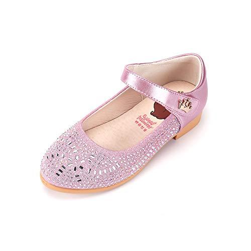Zapatos Niñas Carnaval Zapato Princesa Niña Sandalias de Vestido Flat Shoes Bailarinas Princesa Zapatos con Tacón para Cumpleaños Fiesta Cosplay