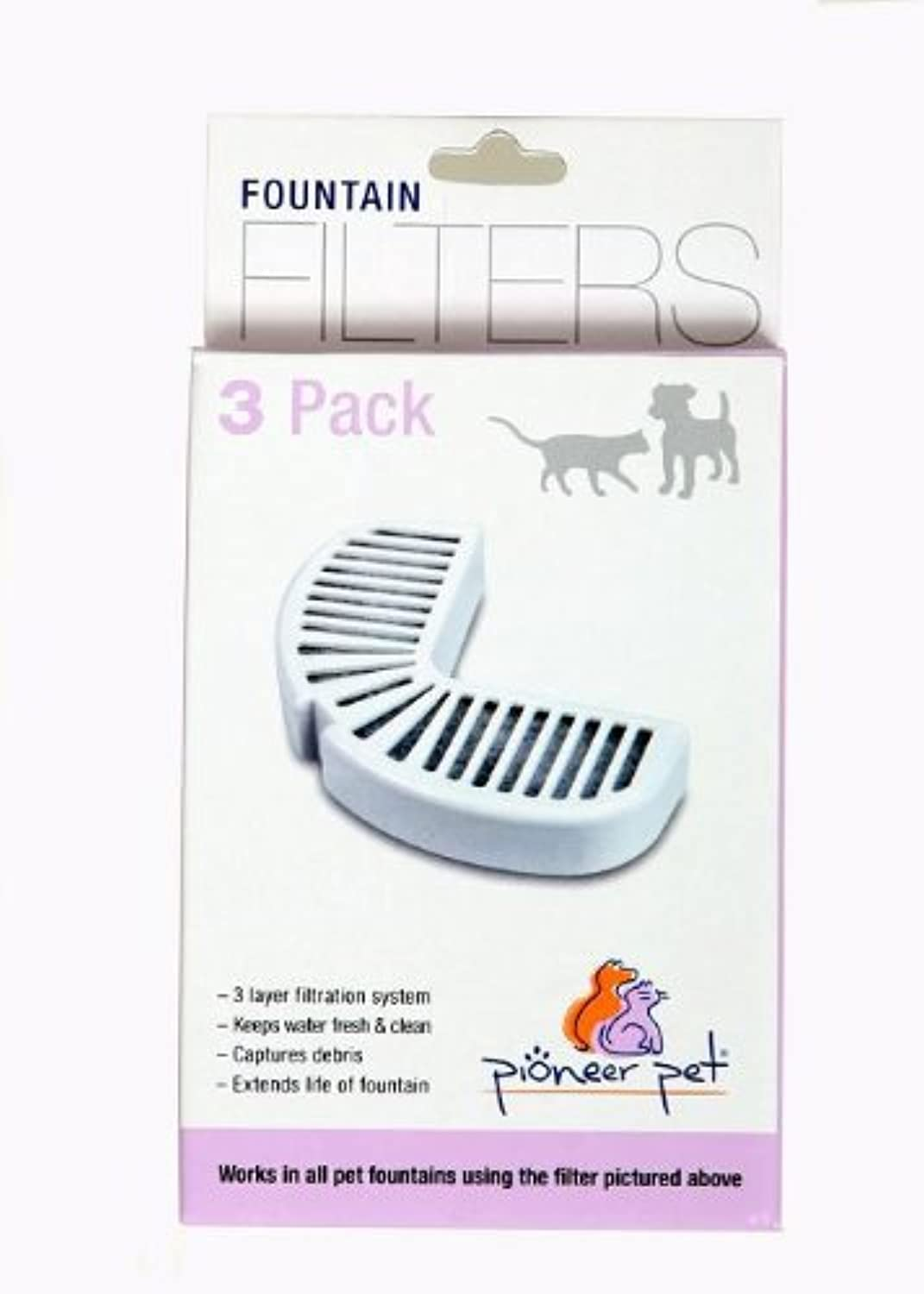 PIONEER PET Replacement Filters 3PER Pack, (6 Packs, 18 Filters)