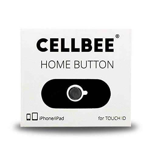 CellBee Home Button Touch ID Sticker Compatible con iPhone iPad Adesivo per Vetro Temperato equalizza la Differenza di Altezza iPhone 6 6s 7 8 Plus Mini Air - Nero
