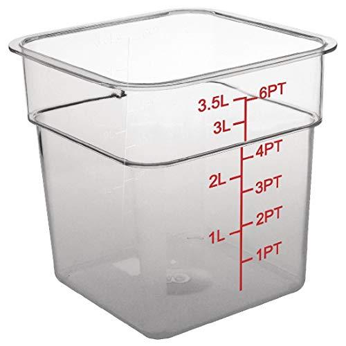 Vogue CF021policarbonato recipiente de almacenamiento cuadrado