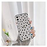 Glqwe Luxury Lindo Funda de bits para iPhone 12 Mini Pro MAX 6 7 8 11 S Plus X S XR Máx Transparente Transparente Teléfono Atrás Cubierta Coque (Color : B1, Material : For iPhone 11)