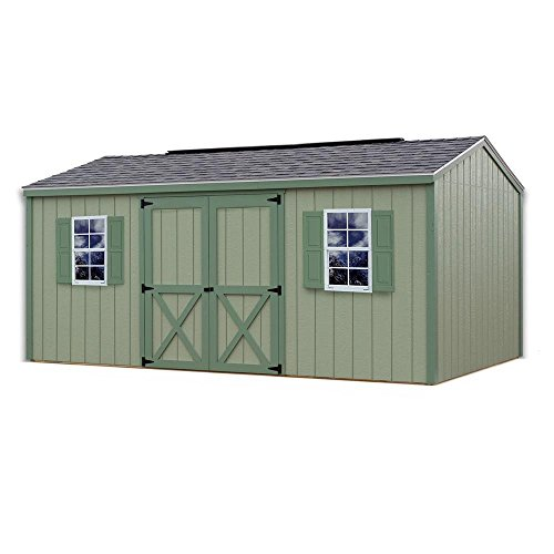 Review Best Barns Cypress 16 ft. x 10 ft. Wood Storage Shed Kit without Floor