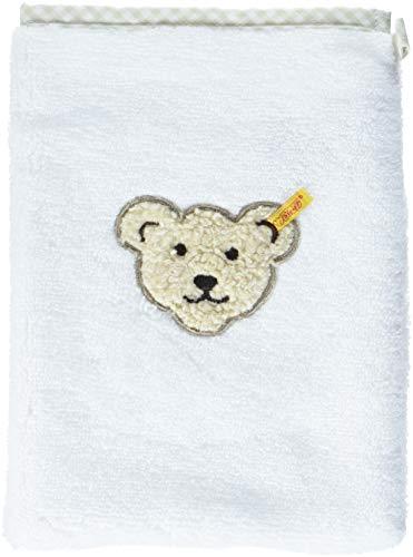 Steiff Baby unisex Waschlappen 2968, Weiß (Bright White 1000), 00
