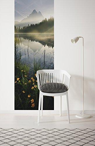 Komar - vliesbehang MORNING MIST - 100 x 280 cm - behang, wand decoratie, zonsopgang, bergen, zee - 152-DV1