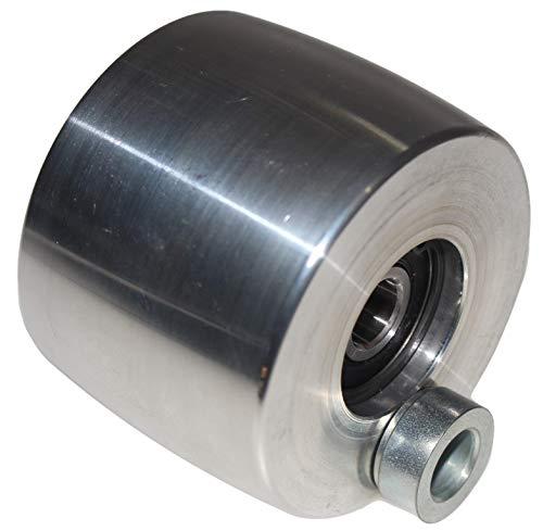 Rueda de seguimiento para amoladora de correa CNC mecanizada para amoladoras de cuchillos 75 mm de diámetro – 55 mm de ancho (rueda de rastreo)