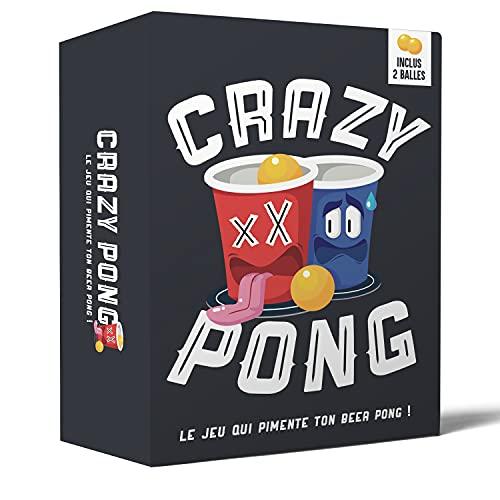Original Cup Crazy Pong®   Pimente Ton Beer Pong   La Variante Action ou Vérité   150 Gages   2 Balles   Meilleur Idée Cadeau 2021   Jeu à Boire   Apéro   Soirée   EVG   100% Fun
