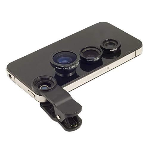GBHD Lente de la cámara 3 en 1 Universal Clip de la cámara del teléfono Macro Lente Ojo de Pez Lente Gran Angular for iPhone X 7 8 Plus de Samsung S8 S9 Huawei Cubierta de la Lente telefónica