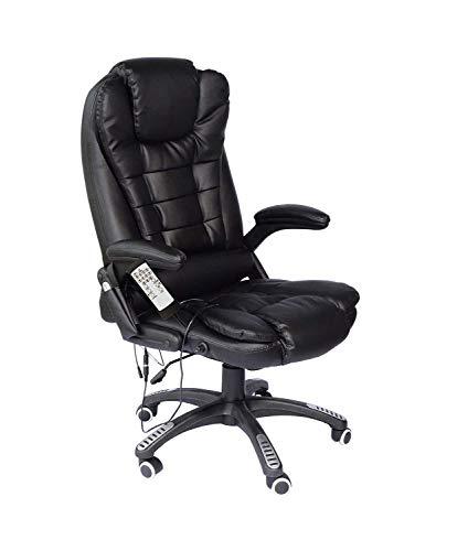 Meubels Executive Recline Extra gewatteerde bureaustoel bureaustoel, hoge rug Executive stoel bruin kunstleer Comfy Reclining bureaustoel pc stoel extra gewatteerde Swivel Computer Bureau stoel, Home