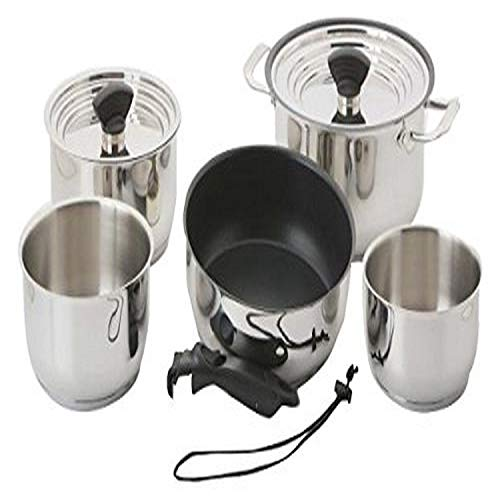 Galleyware Company 14 Piece Nesting Hybrid Induction Cookware Set, Large, Silver