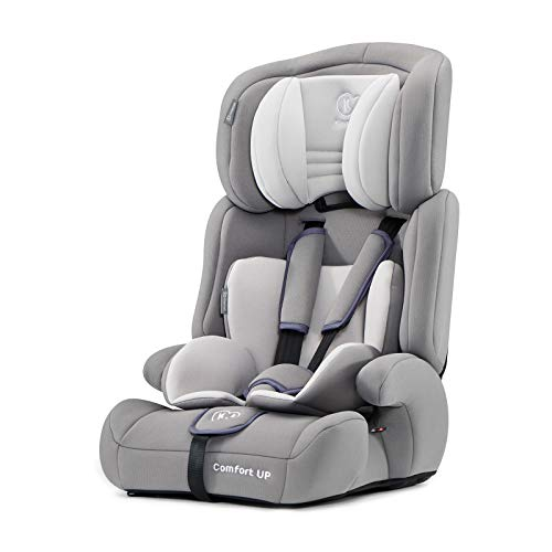 Kinderkraft Kinderautositz COMFORT UP, Autokindersitz, Autositz, Kindersitz, Gruppe 1/2/3 9-36kg, 3-Punkt-Sicherheitsgurt, Einstellbare Kopfstütze, ECE R44/04, Grau