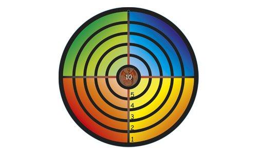 Zielscheibe bunt, hochwertige Zielscheibe aus Holz, 32 cm Durchmesser, ideal für Pfeile mit Saugnapf