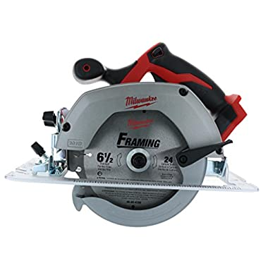 Milwaukee M18 2630-20 18 Volt Lithium Ion 6-1/2  3,500 RPM Cordless Circular Saw w/Magnesium Guards and Included 24-Tooth Carbide Wood Cutting Blade