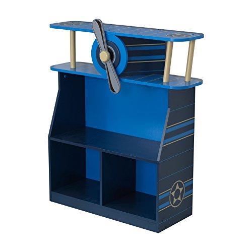 KidKraft 76270 Estantería infantil de madera con diseño avión, muebles para salas de juego y dormitorio de niños