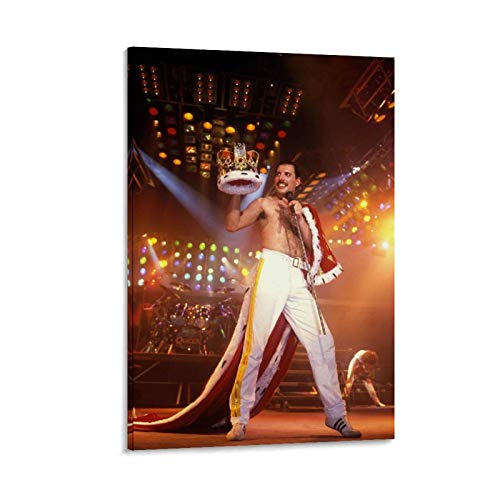 Queen Freddie Mercury Wallpaper Cover Canvas Art Poster and Wall Art Picture Print Modern Family Bedroom Decor Posters 20x30inch(50x75cm)