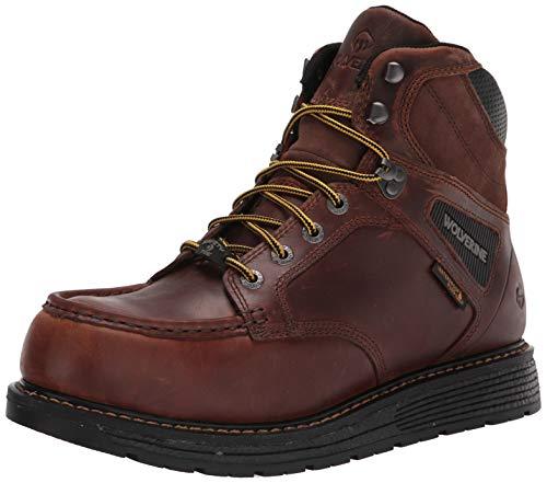 WOLVERINE Men's Hellcat MOC Toe Wedge 6' Construction Boot, Tobacco, 8